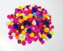 Decorative Colorful Mixed Wool Handmade Pom