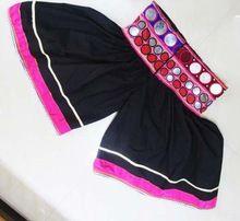 Women Vintage Mirror Work Banjara Harem Short Pant
