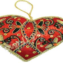 Christmas Hanging Heart Ornament