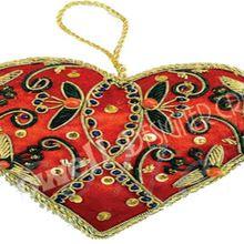 Christmas Hanging Heart Ornament