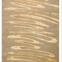 Sketch Gold Handtufted Handmade Indian Carpet Rugs