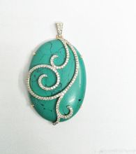 Natural Gemstone Turquoise Gold Pendent