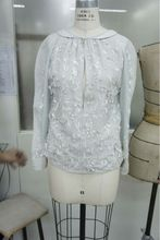 Womens Hand Worked Collar Top