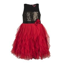 Kids Girls Red Party Dress
