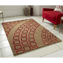 Abstract Design Hand Tufted Wool Carpet