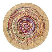 Cotton Hemp Round Rug