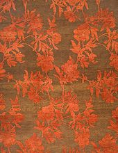 Hand Knotted Floral Wool Silk Rugs Carpets
