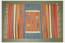 Hand Woven Wool Cotton Rugs Dhurrie