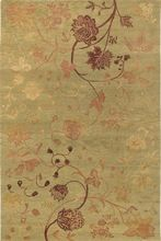 Knotted Wool Silk Carpet