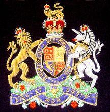 Hand Embroidered Uk Military Emblem