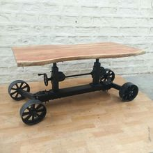 Train wheels Industrial Crank Table