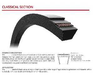 B Section Industrial Classical V-belts