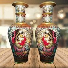 Painted White Marble Handicraft Flower Vase