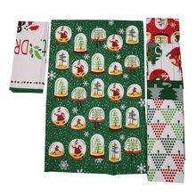 Cotton Printed Christmas Printed Tea Towel