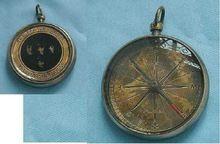 Antique Brass Pocket Compass,