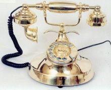 Decorative Antique Style Brass Telephone
