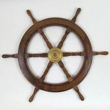 Designer Wooden Ship Wheel