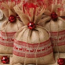 Christmas Gift Burlap Bag