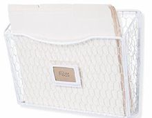 White Color Hanging Wire File Folder