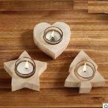 Wooden Church Candle Votive