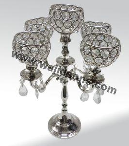 Crystal Tall Pillar Candle Holders