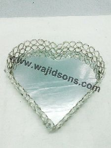 Heart Shape Crystal Beads With Glass