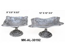 Aluminium Fruit Bowl With Stand