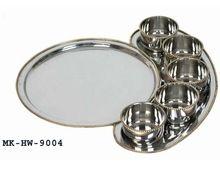 Brass Silverplated Bhojan Thaal