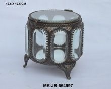 Clear Bevel Glass Antique Jewelry Box
