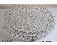 Crystal Diamond Decorative Round Tray