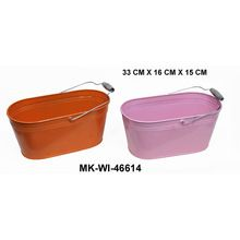 Gi Sheet Bucket With Wooden Handle