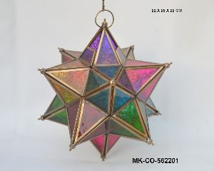 Multi Color Christmas Hanging Star
