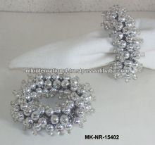 Pearl Beaded Napkin Rings