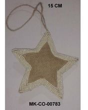 Star Shaped Jute Christmas Ornaments