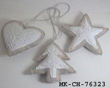 White X-mas Tree Christmas Ornament