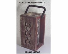 Wooden Antique Style Hurricane Lantern