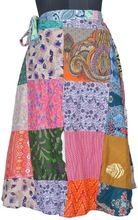 Cotton Patchwork Wrap Skirt
