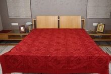 Embroidery And Mirror Work Bed Sheet King Size Bed