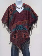 Indian Wool Blend Poncho Sweeter