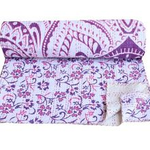 Ombre Mandala Kantha Quilt Indian Cotton Kantha Bedspread