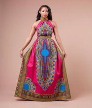Women Sleeveless African Dashiki Print Party