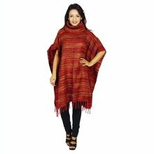Wool Blend Poncho Indian Wool Blend Jacket Winter