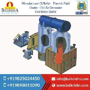 Vertical Four Pass Solids Fuel Fired Hot Water Boiler