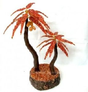 Red Carnailain Palm Stone Tree: