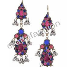 Afghani Kuchi Stone Earrings