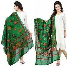 Embroidered Sitara Work Dupatta