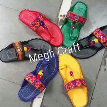 Embroidery Pom Pom Chappal