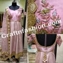 Floral Hand Work Anarkali Suit