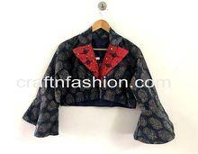 Printed Gaji Silk Blouse