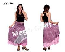 Two Layered Bohemian Ibiza Skirt